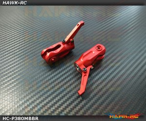Hawk Creation MSH PROTOS 380 Metal Main Rotor Grips (Red)